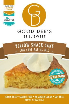 Good Dee's Yellow Snack Cake Mix - Low-carb, Gluten-free, Grain-free, 1g Net Carb! (Chocolate Sugar Free Cookie Mix)