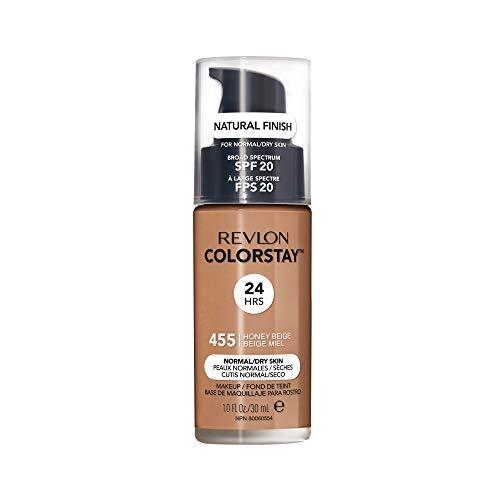 Revlon ColorStay Liquid Foundation For Normal/dry Skin, SPF 20, Honey Beige, 1 Fl Oz