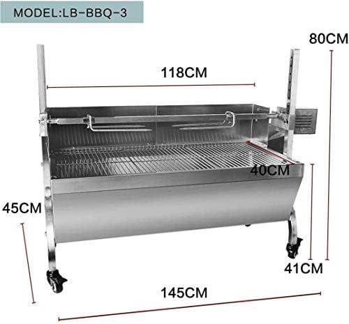 Barbecue HZY BBQ Grills électriques/Manuel Rotation Automatique Grils for extérieur Cuisine Outils en Acier Inoxydable de Porc d'agneau à Bois