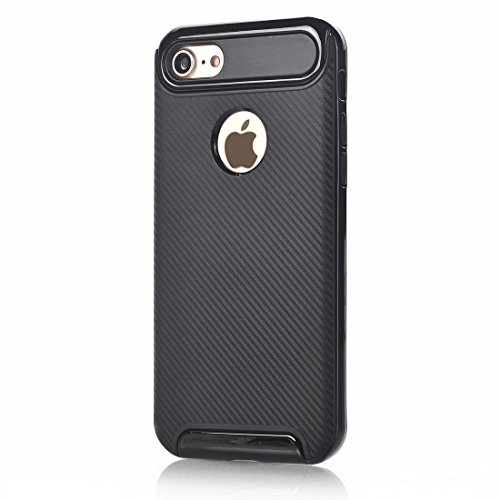 Protege tu iPhone, Para iPhone 8 y 7 fibra de carbono TPU + PC Color dobladillo protector a prueba de golpes Funda protectora contraportada Para el teléfono celular de Iphone. ( Talla : Ip7g6015b )