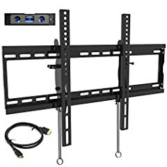 """The Everstone low-profile tv wall mounts feature a slim 2.8"""" profile from the wall which is perfect for ultra thin LED TV. This tilting bracket TV wall mount fit for Most 32-80"""" LED,LCD and Plasma Flat Screen TVs. It can extend the VESA to 60..."""