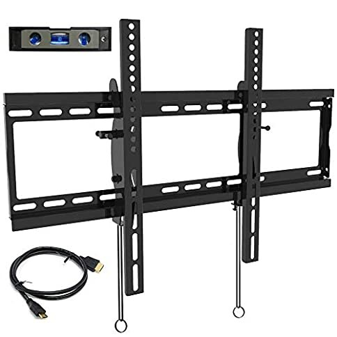 - 41O 2BTRZXnML - Everstone Tilt TV Wall Mount Bracket for Most 32-80 Inch LED,LCD,OLED,Plasma Flat Screen,Curved TVs,Low Profile,Up To VESA 600 x 400 and 165 LBS,Includes HDMI Cable and Level,Fits 16″,18″,24″Studs