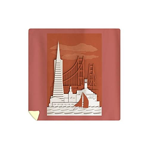 Discount Lantern Press San Francisco, California - Shadow Box (88x88 Queen Microfiber Duvet Cover) supplier