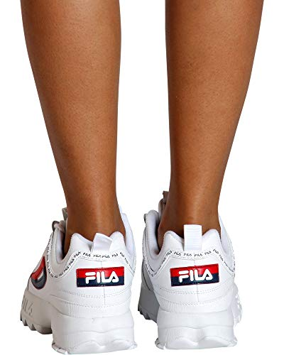 Disruptor Red II Premium Navy White Sneakers Women's Fila 1qzU6Pw
