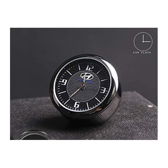 Incognito-7 3D Laxury Metal Hyundai Clock Hyundai Analog Clock Watch for All Hyundai Cars