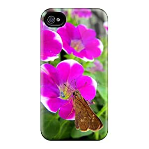 For Iphone Case, High Quality Lycaenidae Flowers For Iphone 4/4s Cover Cases