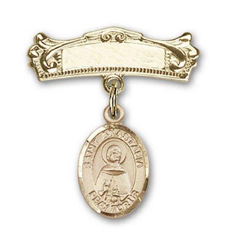 Icecarats Or Bijoux De Créateurs Rempli R. Anastasia Charme Broches Badge Arc 7/8 X 3/4