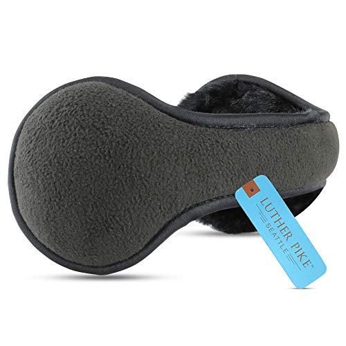 Ear Warmers For Men & Women: Adjustable Headband Warm Ear Muffs: Super Soft Winter Earmuffs In 5 Colors - Black Solid