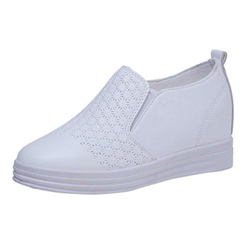 Simple Joker zapatos del estudiante/a mayor pendiente con zapatos de suela gruesa en la primavera/Zapatos con un pedal B