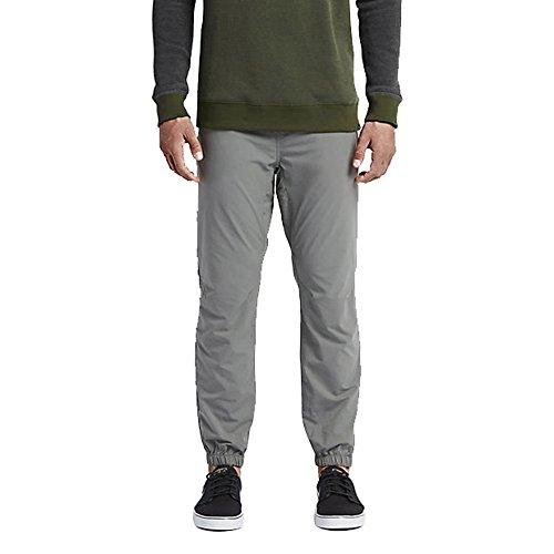 Hurley MPT0000400 Mens Dri-Fit Drifter Jogger Elastic Cuff Pant, Tumbled Grey-XXL