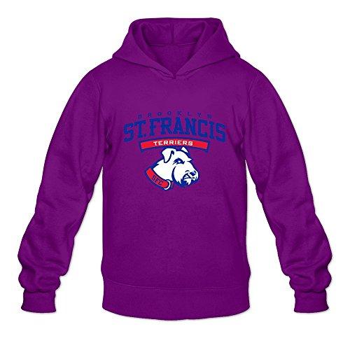 St Francis (BKN) Terriers VAVD Mens 100% Cotton Hoodies Purple Size L