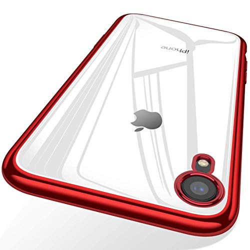(TORRAS Clear iPhone XR Case, Ultra Thin Slim Fit Soft Silicone TPU Protective Cover Cases Compatible with iPhone XR, Red)
