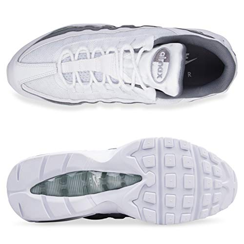 Essential Leather White 95 Max Trainers Cool Mens Air Grey Nike IBTfxP