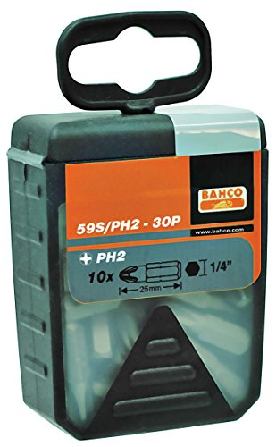 Bahco 59S/PH2G-30P Grabber Drill Bit Set for Drywall Scre...