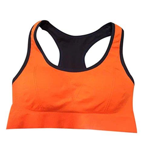 Mengonee Sous-vêtements de sport Femmes Fille matelassée Wirefree antichocs Gym Fitness Course Yoga Tops Vest
