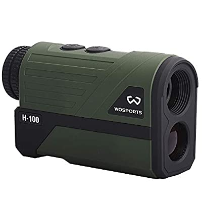 Wosports Hunting Range Finder, Upgraded Battery Cover - Laser Rangefinder Archery Bow Hunting Ranging, Flagpole Lock, Speed - Free Battery by Wosports