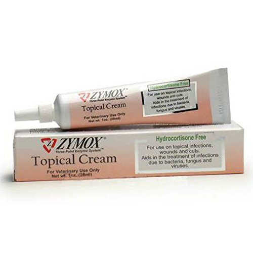 New ZYMOX Topical Cream without Hydrocortisone Dog Cat Topical infections wounds