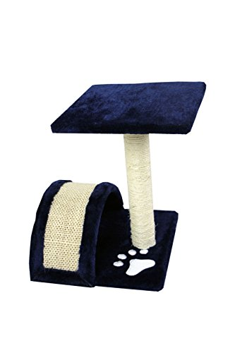 CloudWorks 15'' Small Cat Tree Sisal Scratching Post Furniture Playhouse Pet Bed Kitten Toy Cat Tower Condo for Kittens (Navy Blue) by HIDING by CloudWorks Cat (Image #3)