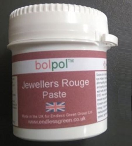 Jewellers Buffing Rouge Cream Paste - Easy to use soft polishing compound to clean & polish precious metal - Bolpol Rouge 120g … Bolger products are made in the UK