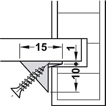 10 Set Schwerlast-Holzverbinder 250 kg Einh/änge-Verbinder Beschlag f/ür M/öbel-Schr/änke /& Metallbau SOLID Gedotec M/öbelverbinder zum Schrauben Bettverbinder Metall Korpusverbinder unsichtbar