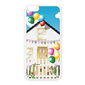 Birthday House White Silicon Rubber Case for iPhone 6 Plus by Nick Greenaway + FREE Crystal Clear Screen Protector