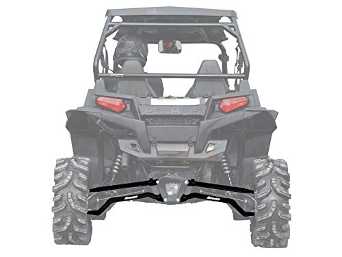 SuperATV High Clearance Boxed Rear Radius Arms/Rods for Polaris RZR XP 900 / XP 4 900 (2011-2014) - Black