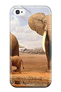 Perfect Elephant Case Cover Skin For Iphone 4/4s Phone Case by mcsharks