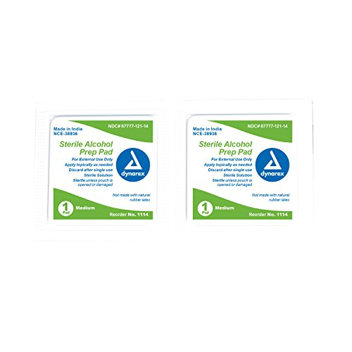 Dynarex Alcohol Prep Pad Sterile medium (Dynarex Alcohol Prep Pads)