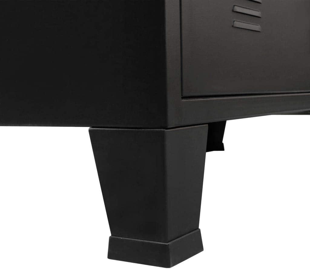Festnight Commode /à Tiroirs Armoire /à Tiroirs en M/étal Style Industriel 78 x 40 x 93 cm Noir