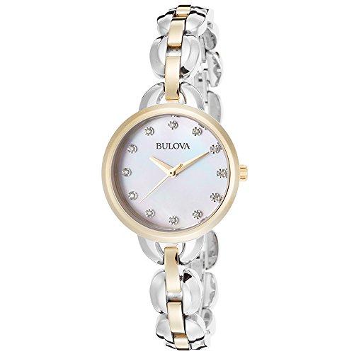 Bulova Women's 98L208 Analog Display Japanese Quartz Two Tone Watch