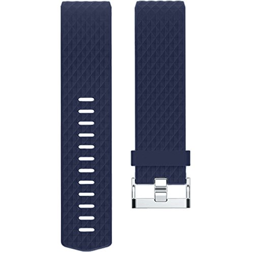 Wepro For Fitbit Charge 2 Bands, Replacement Accessory Wristbands for Fitbit Charge 2 HR, Small, Black