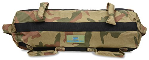 Heavy Duty Workout Sandbags For Fitness, Exercise Sandbags, Military Sandbags, Weighted Bags, Weighted Sandbag, Fitness Sandbags, Training Sandbags, Tactical (Camouflage Rubber Core Handle, 20-60 lbs) (Sand Camo)