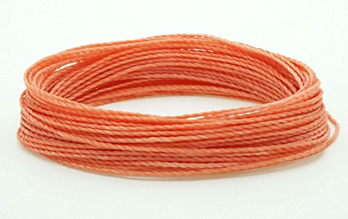 (CORAL 1mm Waxed Polyester Twisted Cord Macrame Bracelet Thread Artisan String (30yards Skein))