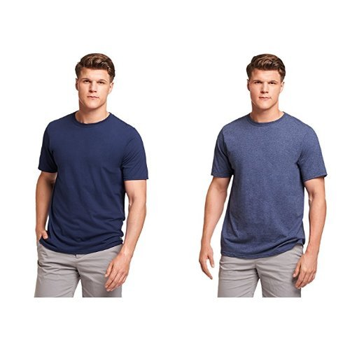 Russell Athletic Men's Essential Cotton T-Shirt, Navy/White, S
