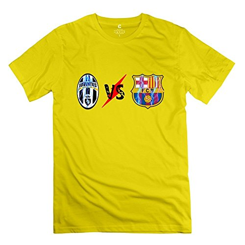 Price comparison product image Juventus FC VS FC Barcelona Logo T-shirt Size XL