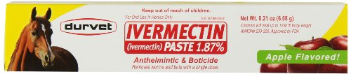 Durvet Ivermectin Dewormer Paste for Horses, 6 Doses, 0.21 oz