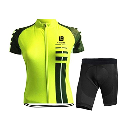 WWL Fashion Womens Bicycle Bike Cycle Short Sleeve Jersey Jacket Comfortable Sportswear Suit Set Breathable