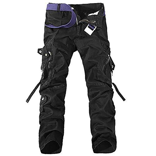 Jeans Uomo Comoda Cotone Pantaloni Moda tasca Cargo Ragazzi Multi Morbida Multi Ssig E Con Nero Tasca Classiche rrd4q
