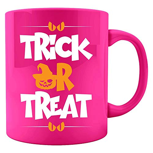 Trick or treat Halloween funny pumpkin Gift - Colored Mug ()