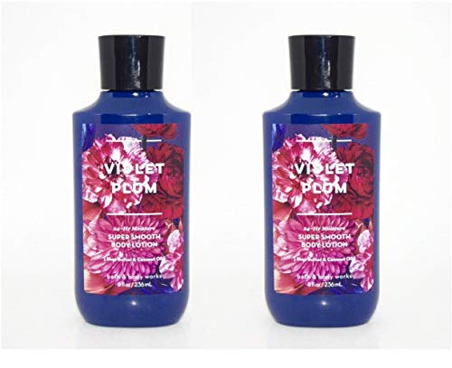 Bath and Body Works 2 Pack Violet Plum Super Smooth Body Lotion. 8 ()