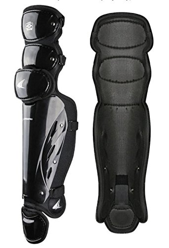 CHAMPRO Pro-Plus Umpire Leg Guard 17'' Baseball Softball Protection Black CG370 by CHAMPRO