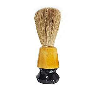SIYAA Beard Shaving Brush For Styling And Shaping Tool Shaving Brush Natural Bristles Beard Care And Styling Accessories For Men, 20 Gram, Brown, Pack of 1