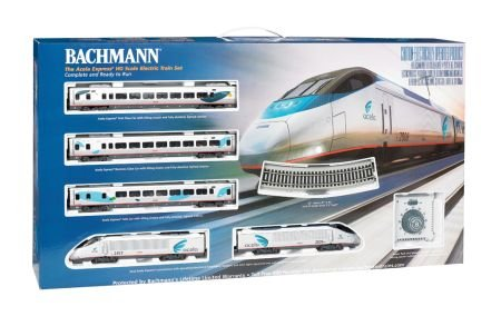 Bachmann Industries Acela Express DCC Ready To Run Electric Train Set (1:87 Scale) Non Powered Locomotive