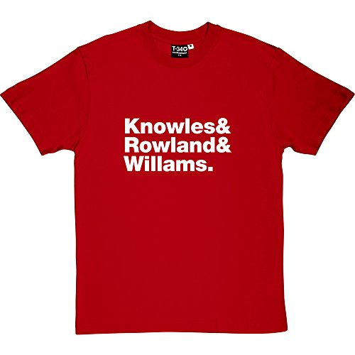 Destiny's Child Line-Up Red Men's T-Shirt 5XL (White Print)