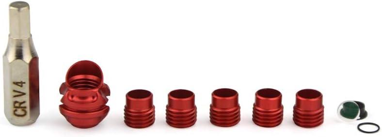 ZSHJG Peep Sight 37//45 Grados Vivienda de Aluminio con 5 Piezas de N/úcleo Interno y Lente Clarificadora Kit de Apertura para Arco Compuesto