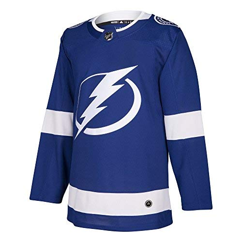 Home Adidas Jersey Mens Authentic - adidas Tampa Bay Lightning NHL Men's Climalite Authentic Team Home Blue Hockey Jersey (Small)