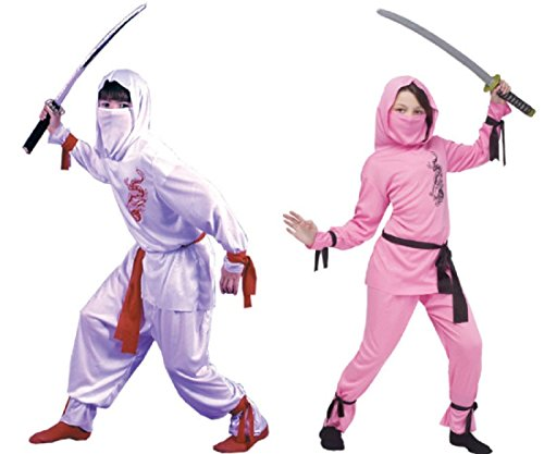 Fun World White Ninja Costume, Medium 8-10,