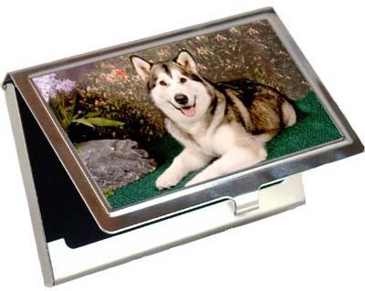 Siberian Huskyビジネスカード/クレジットカードケース   B003BPNBMK