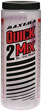 Quick 2 Mix Mixing Bottle - Maxima Racing Oils 10920 Quick-2-Mix Oil/Gas Ratio Mixing Bottle - 20 oz. Capacity Size: 20 Ounces, Model: 10920, Outdoor&Repair Store