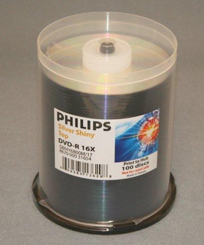 Philips Duplicator Grade 4.7 GB DVD-R 16X Silver Shiny Print